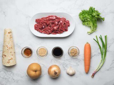 Beef Bulgogi Wrap (serves 2)
