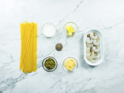 Creamy Pesto Linguini (serves 2)