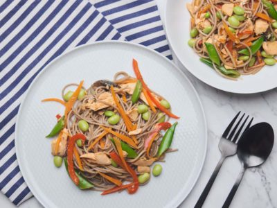 Asian Salmon Soba Noodle Salad (serves 2)
