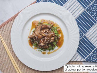 Mongolian Beef Riced Broccoli Bowl (serves 2)