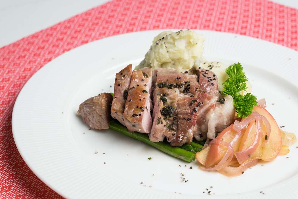 Shop Pan Fried Pork Chops with Apples and Garlic Mash Meal Kit online in Singapore