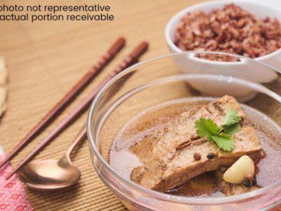 Double Boiled Bak Kut Teh with Multigrain Rice (serves 2)