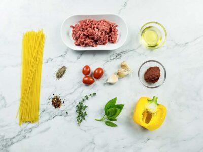 Sunny Bolognese Angel Hair Pasta (serves 2)