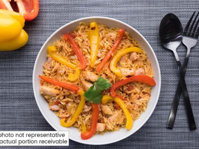 Spicy Chicken Orzo Paella (serves 2)