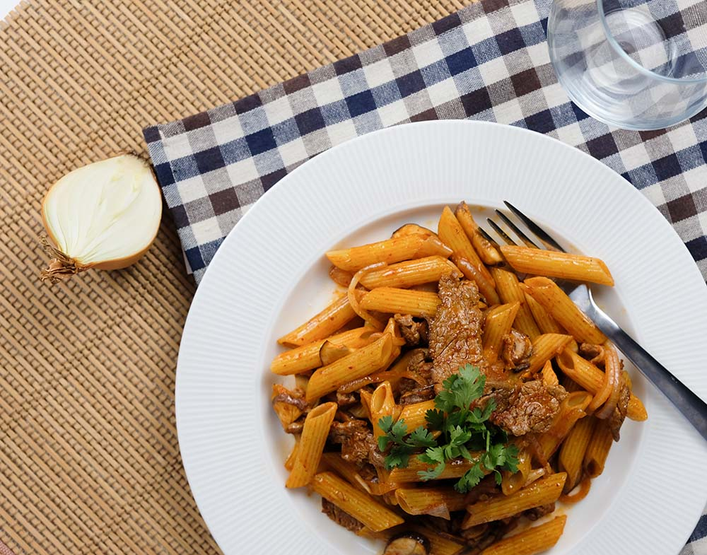 Shop Korean Kimchi Beef Penne Meal Kit online in Singapore