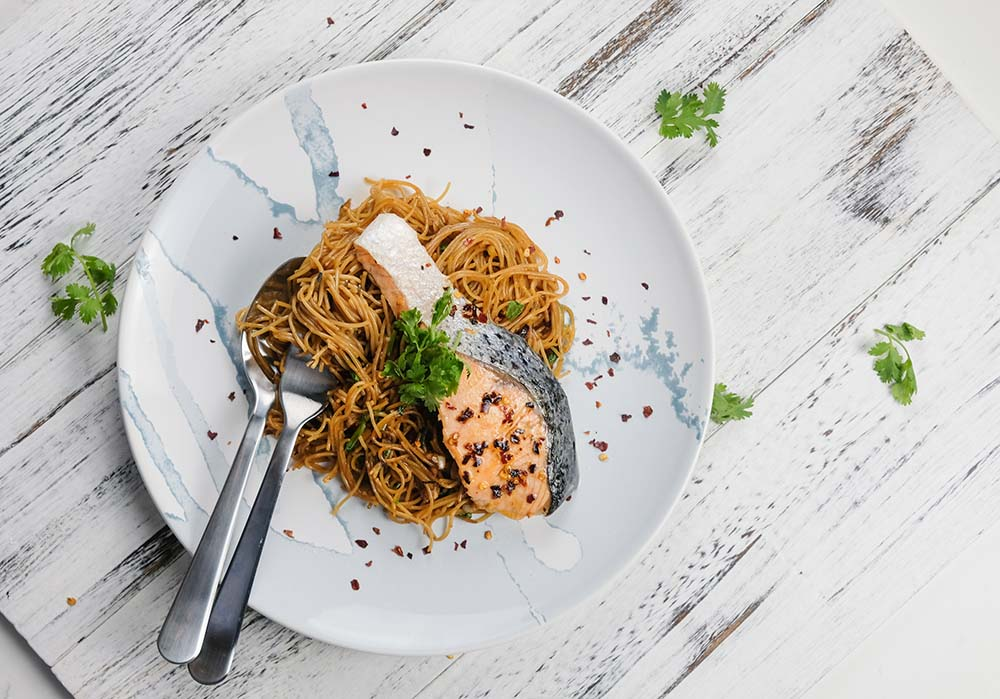 Shop Indonesian Salmon Pasta Meal Kit online in Singapore