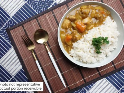 Japanese Curry Chicken with Rice (serves 2)