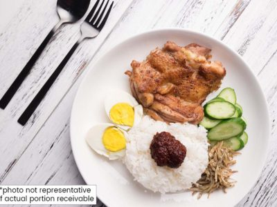Healthy Nasi Lemak (serves 2)