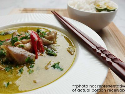 Thai Green Curry Chicken with Rice (serves 2)