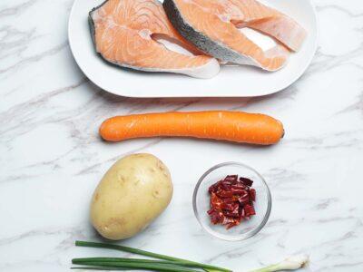 Spicy Salmon Teriyaki (serves 2)