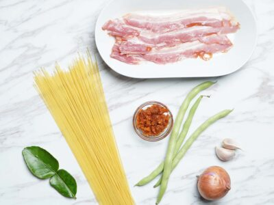Hae Bi Hiam Bacon Aglio Olio (serves 2)