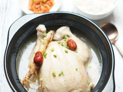 Samgyetang (Korean Ginseng Chicken) (serves 2)