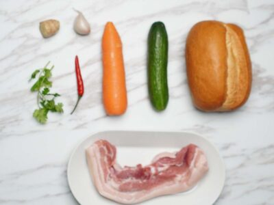 Pork Belly Bahn Mi (serves 2)