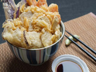 Yasai Tempura Don (Vegetarian) (serves 2)