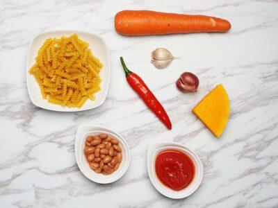 Pasta Fagioli (Vegetarian) (serves 2)