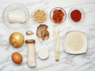 Soondubu Jjijae (Vegetarian) (serves 2)