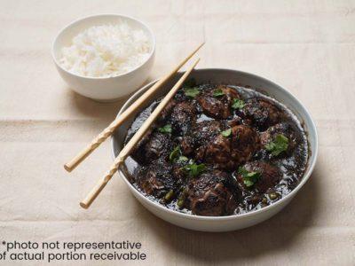 Braised Cabbage with Mushrooms & Fatt Choy (Vegan) (serves 2)