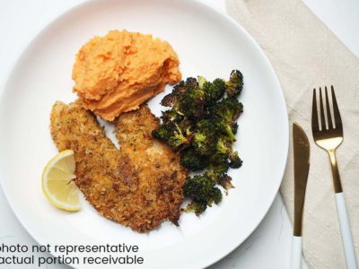 Panko Crusted Sutchi Fillets with Lemon Butter Sauce (serves 2)