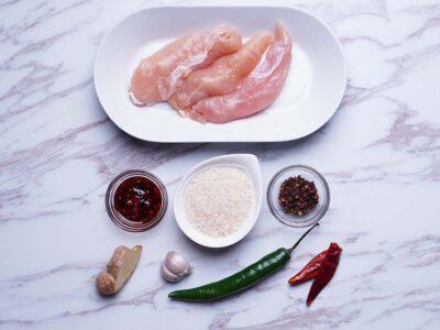 Green Chillies Chicken (serves 2)