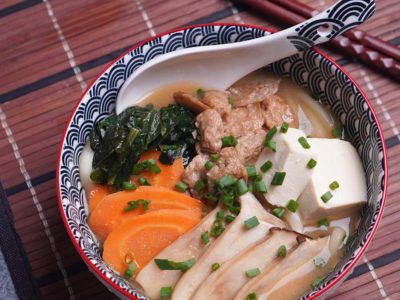 Vegan Miso Udon (serves 2)