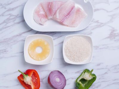 Sweet and Sour Fish with Rice (serves 2)