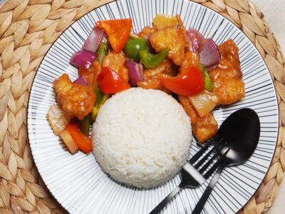 Sweet and Sour Fish with Rice