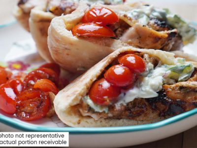 Greek Chicken Gyros (serves 2)