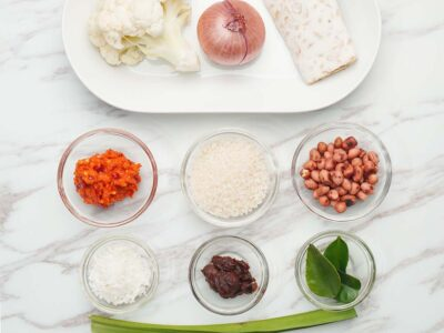 Vegan Nasi Lemak (serves 2)