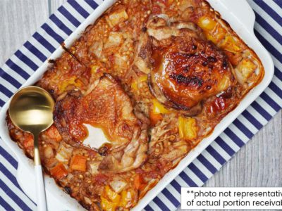 Baked Barley Pilaf with Chicken & Vegetables (Serves 2)