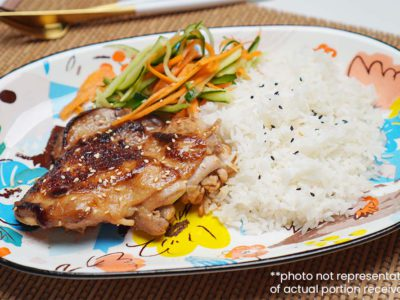 Miso Sesame Chicken with Pickled Vegetables & Rice (Serves 2)