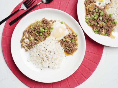Hong Kong Style Ground Beef & Egg on Rice (Serves 2)
