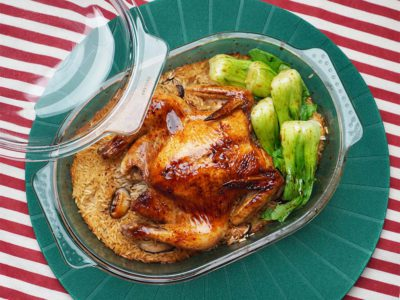Asian Baked Chicken Rice (Serves 2)
