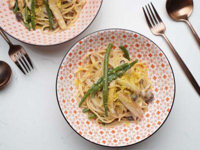 Creamy Vegan One Pot Pasta (Serves 2)