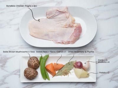 French Chicken Casserole (Serves 2)