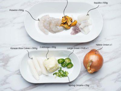 Seafood Tteokbokki (Serves 2)