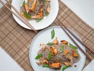 Sticky Salmon Soba (Serves 2)