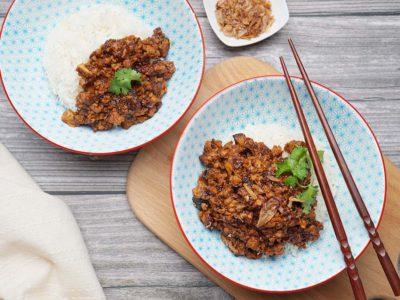 Taiwanese Vegan Lu Rou Fan (Serves 2)
