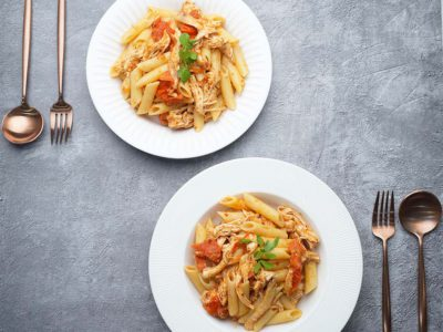 Nigerian Baked Tomato Pasta (Serves 2)