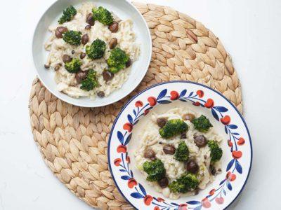 Vegan Mushroom Chestnut Risotto (Serves 2)