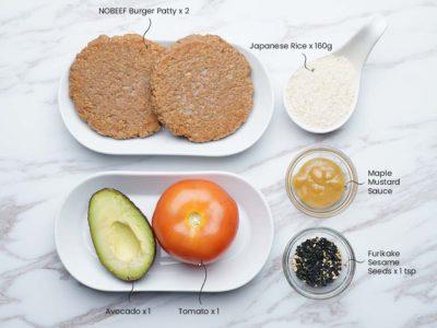 Vegan Sushi Rice Burger (Serves 2)