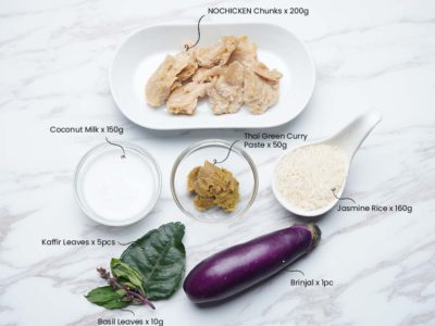 Vegan Thai Green Curry Chicken (Serves 2)