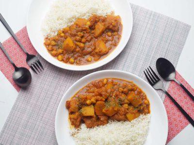 Chickpeas & Butternut Tikka Masala (Serves 2)