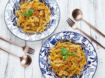 Chicken & Sweet Peppers Red Pesto Fusili (Serves 2)