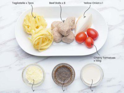 Swedish Meatballs Tagliatelle (Serves 2)