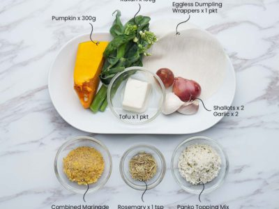 Vegan Pumpkin Tofu Cheater's Ravioli (Serves 2)
