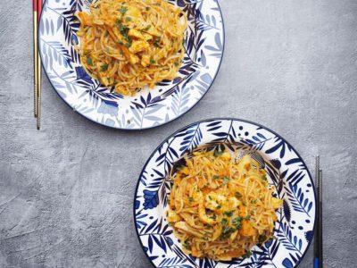 Vegan Seafood Dry Laksa (Serves 2)