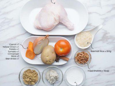 Chicken Kurma with Basmati Rice (Serves 2)